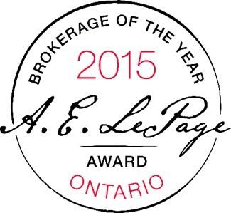 2015 A.E. Lepage Award Ontario