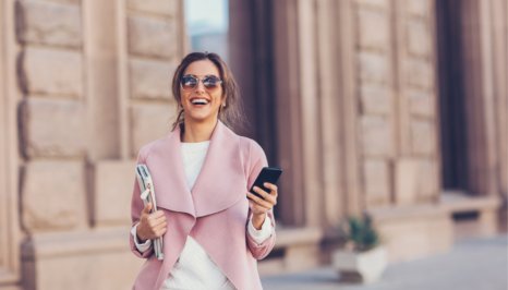 Happy Woman with her phone