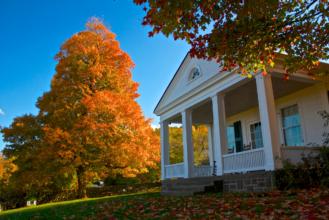 Farm house in the fall