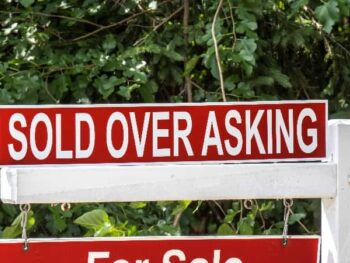 Sold Over Asking Price Sign