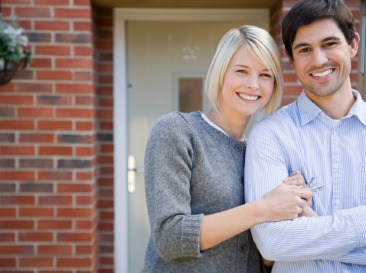 Happy Couple Buying a Home